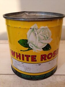 Great cond. White Rose 5 pound Grease can motor oil tin gas sign