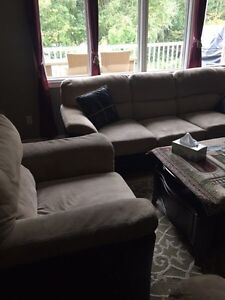 2x three seater couches and one chair