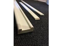 Staircase stair parts white primed baserail/base rail - 32mm groove with infills