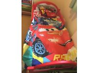 Toddler cot bed including duvet and mattress only used for one month as bought a bunk bed