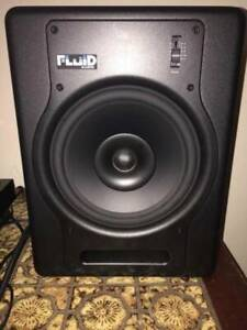 "Studio Monitors/Speakers (Pair) Fluid FX8 Fader Series8"" &CABLES"