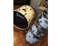 White Premier Artist Maple Drum Kit with cases! £500 ONO
