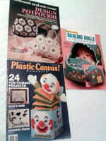 Plastic Canvas Books, Knitting, Crocheting, Sewing, Craft Books