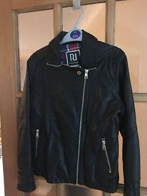 Girls faux leather biker jacket