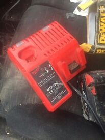Milwaukee m12 - m18 charger and 18v 4.0ah battery