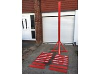 Large Red Sign Post - Ideal For Weddings/Events