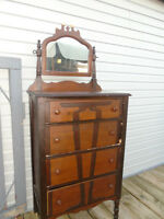 antique  dresser  both  with  mirrors