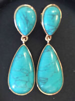 STUNNING Double Drop Turquoise Earrings