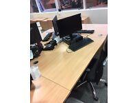 21 x Office desks - Beech