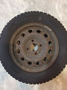 """USED SET OF WINTER TIRES - 14"""" 4 BOLT PATTERN"""