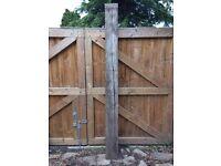 Natural Oak timber sleeper. 2.4m Unused. Clean timber. Garden borders. Garden Feature. Seasoned Oak
