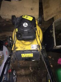 "Wolf 20"" inch petrol lawnmower self propelled"