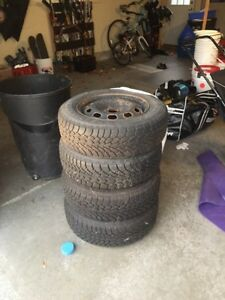 4 x 195/55 r15 Nordic track tires on rims  Sarnia Sarnia Area image 4