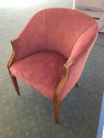 2 antique style lounge chairs  $130
