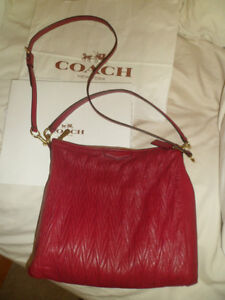 COACH purse/bag gathered Madisonhobo AUTH-Berry RARE-OBO