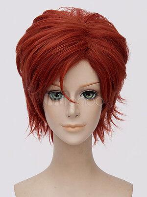 Zootopia Nick Wilde Fox Halloween Cosplay Wig Brick Red Synthetic