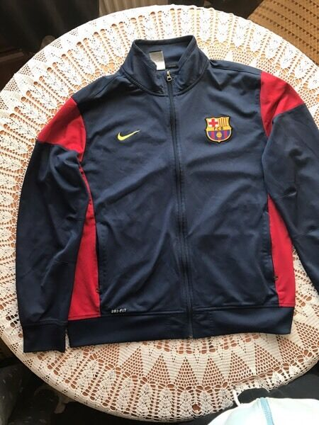 Barcelona Nike Football Gift Mens Jacket & Pants Tracksuit Set Dri-Fit Size XL