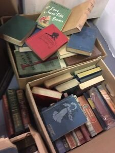 Antique collection of books