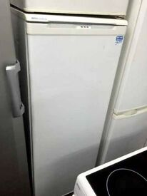 White beko frost free H 150cm W 55cm freezer good condition with guarantee