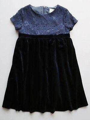 Florence Eiseman NWT Navy Velvet & Lace Party Dress 3T, 4T, 4
