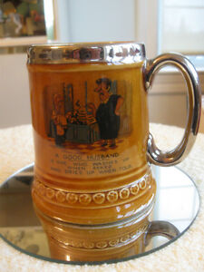 "HUMOROUS VINTAGE ""LORD NELSON "" POTTERY BEER STEIN"