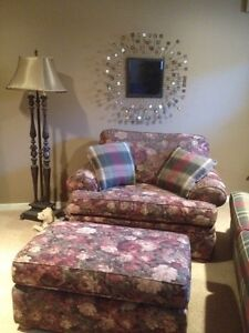 Large chair oversized with ottoman