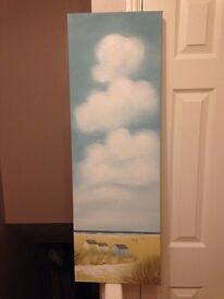 Beach canvas painting