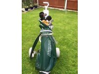 Golf clubs - full set with trolley