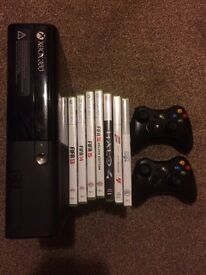 XBox 360 2 Controllers +7 Games and all cables + Turtle Beach headset