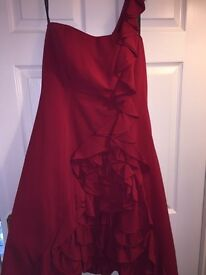 Designer Red Evening Dress s14
