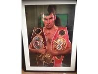 Signed authentic joe Calzaghe framed photo.