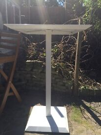 Pair of bistro white table