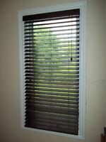 5 Shade-O-Matic Jasper Printed Faux Wood Privacy Blinds 36 x 48