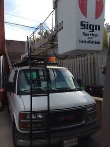 2000 gmc savana sign truck