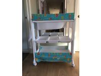 Baby changer with bath