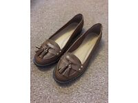 NEW LOOK LADIES BROWN LOAFERS NEW ⭐️CAN POST⭐️