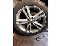 18 inch vauxhall insignia twin spoke alloy wheels 5x120