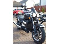 Low mileage Triumph Rocket 3 Roadster - FTSH, Alarm, sportscreen, luggage rack and sissy bar.