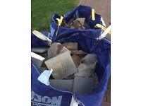 Bulk bags of rubble