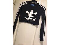 Adidas crop top, size 8-10