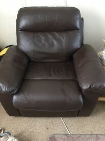 Single chocolate recliner seat