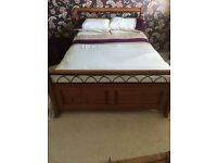 Double Oak Bed Frame