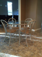 Dinette - table and 4 chairs