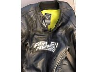 Motorbike racing One piece leather suit size 46 Arlen Ness Magnesium