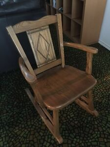 Solid Hand Made Oak Wood Rocking Chair