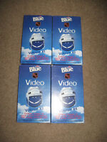 4 VHS - LABATT BLUE NHL VIDEOS and 1 Gold Rush VHS