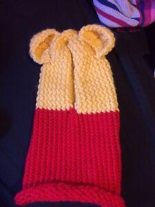 Winnie the Pooh hooded cowl handmade