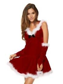 Miss Santa With Hood And Gloves size 12/14