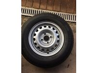 Caravan wheel and tyre (brand new)
