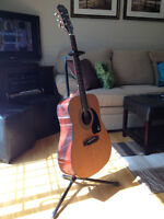 Epiphone DR-100 NA acoustic - mint condition + stand and a case!